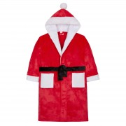 Novelty Santa Hooded Bath Robe