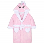 Girls 3D Novelty Unicorn Dressing Gown