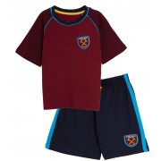 Kids West Ham United Short Pyjamas Boy Premiership Football Kit Shorts T-shirt