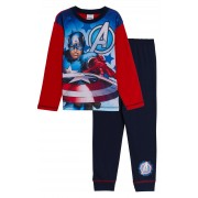 Boys Captain America Full Length Pyjamas Kids Marvel Avnegers Long Pjs Nightwear
