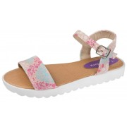 Girls Floral Spoer Sandals - Pink