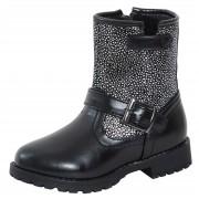 Girls Silver Glitter Mid Calf Boots