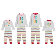 Boys Girls Kids Matching Family Full length Pyjamas Big Little Bro Sis Pjs Size
