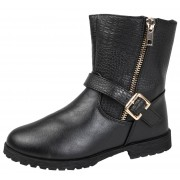 Girls Mid Calf Ankle Boots - Crackle