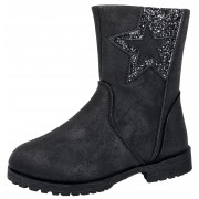 Girls Mid Calf Ankle Boots - Glitter Star