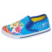 Boys Baby Shark Canvas Pumps Kids Slip On Summer Shoes Character Plimsolls Size