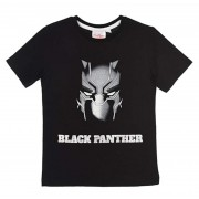 Boys Black Panther Short Sleeved T-Shirts
