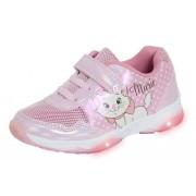 Girls Aristocats Marie Light Up Trainers Kids Disney Flashing Sports Shoes Pumps