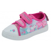 Peppa Pig Canvas Pumps Girls Easy Touch Fasten Plimsolls Trainers Shoes