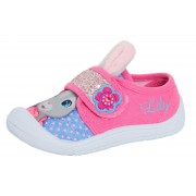 Girls Lily Bobtail 3D Ears Canvas Pumps Kids Peter Rabbit Trainers Plimsolls