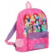 Disney Princess Roxy Backpack Girls School Nursery Rucksack Glitter Lunch Bag