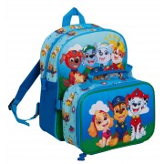 Paw Patrol Backpack + Detachable Lunch Bag Boys Girls Nursery School Rucksack