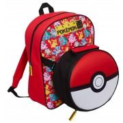 Pokemon Kids Backpack + Detachable Lunch Bag Boys Girls Back To School Rucksack
