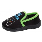 Boys Epic Gamer Slippers Kids Gaming Twin Gusset Slip On Mule House Shoes Size