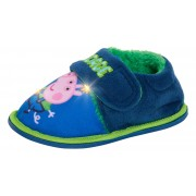 Boys George Pig Light Up Slippers Infants Dino Fur Lined Nursery House Shoes
