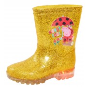 Peppa Pig Light Up Glitter Wellington Boots