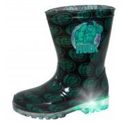 Boys Incredible Hulk Light Up Wellington Boots Marvel Rain Snow Shoes Wellies