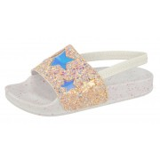 Girls Slingback Sandals - Holographic Glitter