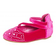 Girls Mary Jane Velvet Party Shoes