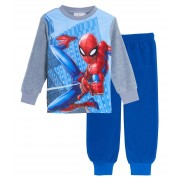 Marvel Spiderman Fleece Pyjamas Boys Kids Avengers Twosie Lounge Set Pjs Gift