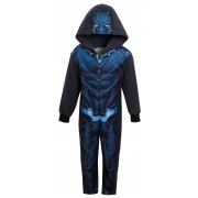 Boys Black Panther Dress Up All In One Kids Marvel Avengers Fleece Sleepsuit Pjs