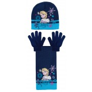 Girls Disney Frozen 2 or 3 Piece Winter Sets Elsa Anna Woolly Hat Scarf Gloves