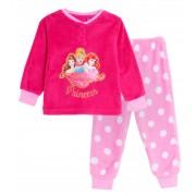 Girls Disney Princess Fleece Pyjamas Kids Plush Twosie Lounge Set Pjs Gift Size