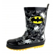 DC Comics Boys Batman Rubber Wellington Boots - Logo