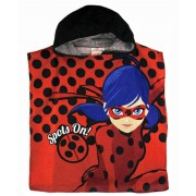 Girls Miraculous Ladybug Hooded Poncho
