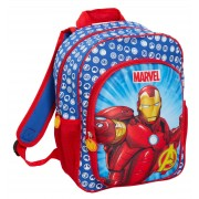 Boys Marvel Iron Man 3D Backpack Kids Avengers School Book Lunch Bag Rucksack