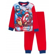 Boys Marvel Avengers Brushed Cotton Fleece Pyjamas Kids Gift Boxed Luxury Twosie