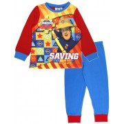 Boys Fireman Sam Long Pyjamas - Saving The Day