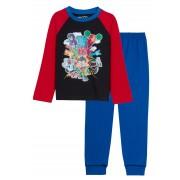 Boys Teen Titans Go Pyjamas Kids Full Length Long Pjs Set Super Hero Nightwear