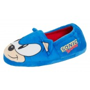 Boys Sonic The Hedgehog Slippers Kids Sega Slip On Mules Warm Lined House Shoes