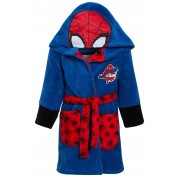 Boys Marvel Spiderman Hooded Dressing Gown