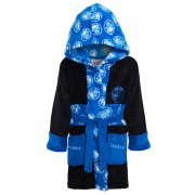 Boys Black Panther Hooded Bathrobe Kids Marvel Avengers Fleece Dressing Gown
