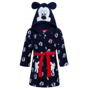 Disney Mickey Mouse Hooded Bathrobe Kids Fleece Dressing Gown Dress Up Robe Size