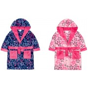 Girls Hooded Dressing Gown Star Print
