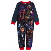 Marvel Avengers Boys Fleece All In One Pyjamas Kids Super Hero Sleepsuit Size