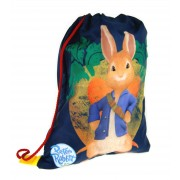 Peter Rabbit Drawstring Bag  3D Carrot Keyring
