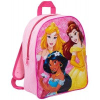 Disney Princess School Backpack with Mesh Side Pocket Girls Rucksack Lunch Bag