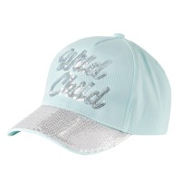 Girls Glitter Sequin Baseball Cap