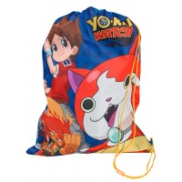Yo-Kai Watch Boys Drawstring Bag  - Nathan Adams, Jibanyan + Blazion