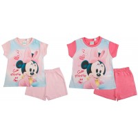 Baby Girls Minnie Mouse Short Pyjamas
