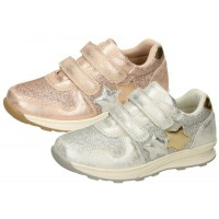 Girls Metallic Glitter Trainers  Stars