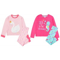 Girls Slogan Pyjamas Childrens Pjs Kids Infants Toddlers Soft Luxury Lounge Set