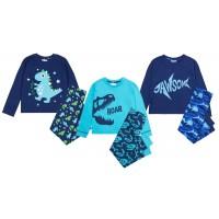 Boys Slogan Pyjamas Childrens Pjs Kids Infants Toddlers Soft Luxury Lounge Set