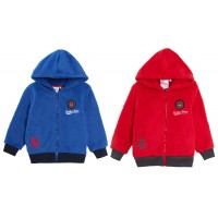 Marvel Spiderman Boys Hooded Fleece Jacket Kids Avengers Full Zip Hoody Size