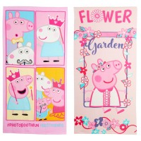 Girls Peppa Pig Beach Towel Kids Character Pool Holiday Swimming Wrap One Size