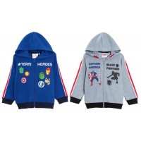 Kids Marvel Avengers Hooded Zip Jacket Boys Super Hero Hoodie Hoody Age Size